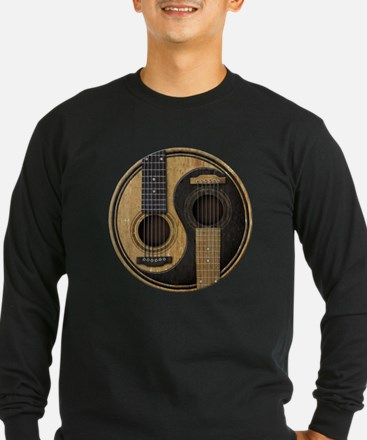 Old and Worn Acoustic Guitars Yin Yang T