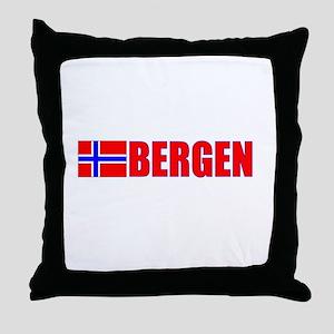 Bergen, Norway Throw Pillow