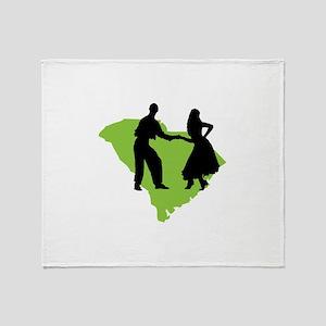 South Carolina Shag Throw Blanket