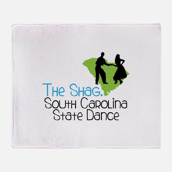 THe SHaG. SoUtH CaRoLina State Dance Throw Blanket
