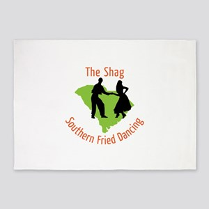 The Shag Southern Fried Dancing 5'x7'Area Rug