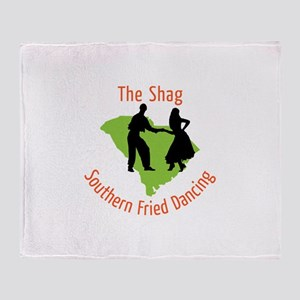 The Shag Southern Fried Dancing Throw Blanket