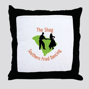 The Shag Southern Fried Dancing Throw Pillow