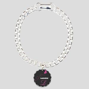 Custom Monogram Butterfl Charm Bracelet, One Charm