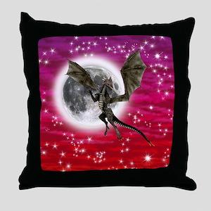 Black Dragon Throw Pillow