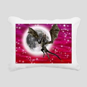 Black Dragon Rectangular Canvas Pillow