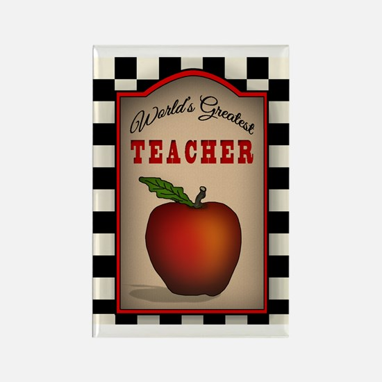 Country Worlds Greatest Teacher Rectangle Magnet