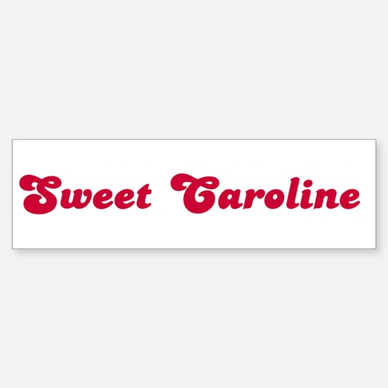 Sweet Caroline Bumper Car Car Sticker