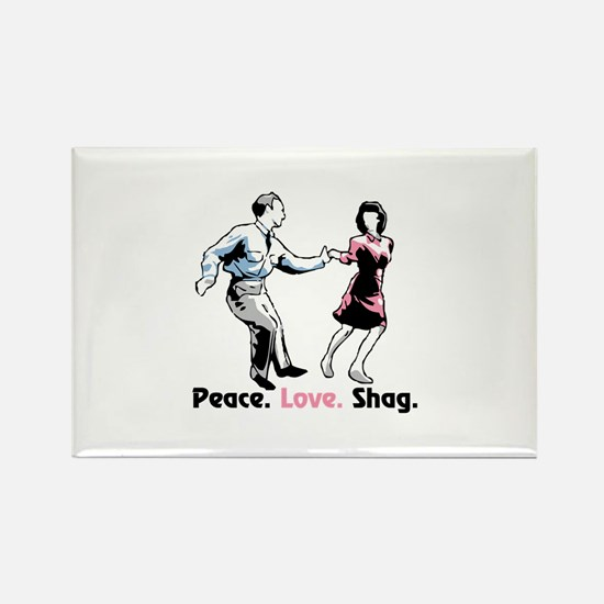 Peace. Love. Shag. Magnets