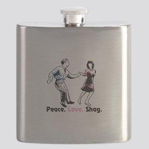 Peace. Love. Shag. Flask
