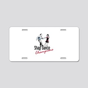 Shag Dance Champions Aluminum License Plate