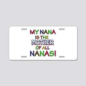 Nana Design Aluminum License Plate