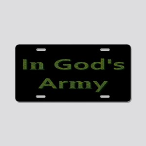 In Gods Army License Plate Aluminum License Plate