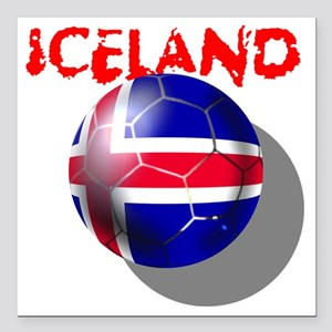 "Iceland Square Car Magnet 3"" x 3"""