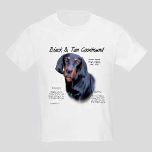 Black and Tan Coonhound Kids Light T-Shirt