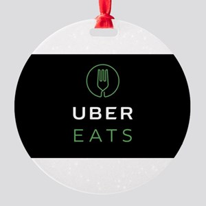 Green Uber Eats Logo Round Ornament
