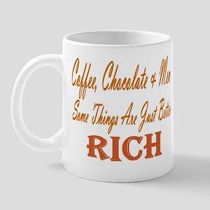 I love Chocolate, Coffee & Men Mug