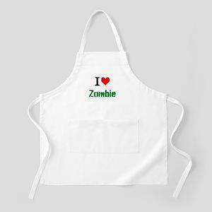 I Love Zombie Apron