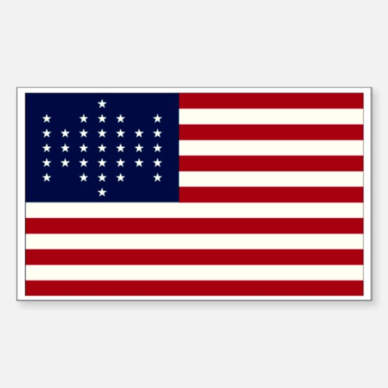 The Union Civil War Flag Rectangle Decal