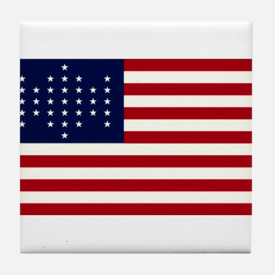 The Union Civil War Flag Tile Coaster