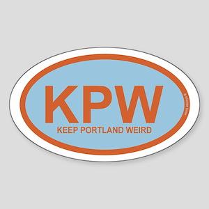 Kpw - Keep Portland Weird Sticker (oval)