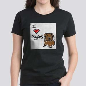 Rainbow Guinea Pigs Women's Dark T-Shirt