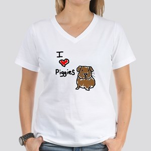 Rainbow Guinea Pigs Women's V-Neck T-Shirt