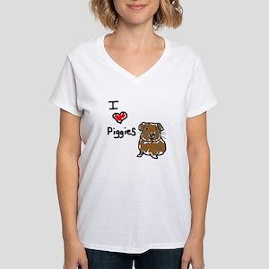 Rainbow Guinea Pigs Women's V-Neck T-Shirt