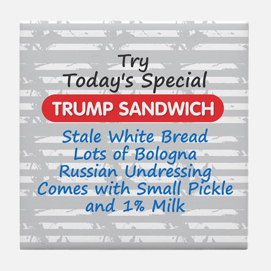 Trump Sandwich Tile Coaster