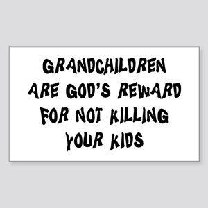 Funny Grandparents Rectangle Sticker