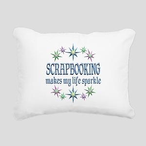 Scrapbooking Sparkles Rectangular Canvas Pillow