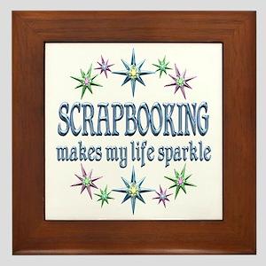 Scrapbooking Sparkles Framed Tile