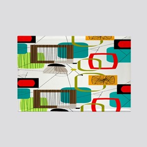 Atomic Era Abstract Rectangle Magnet