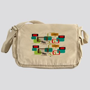 Atomic Era Abstract Messenger Bag