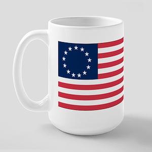 Betsy Ross flag Large Mug
