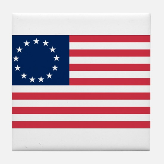 Betsy Ross flag Tile Coaster