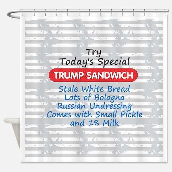 Trump Sandwich Shower Curtain