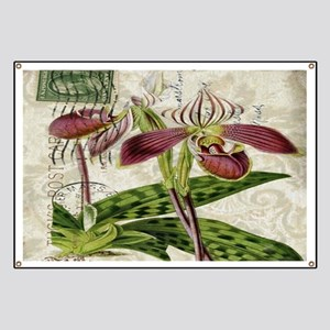 orchid french botanical art paris fashion Banner