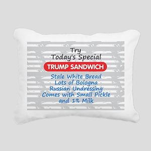 Trump Sandwich Rectangular Canvas Pillow