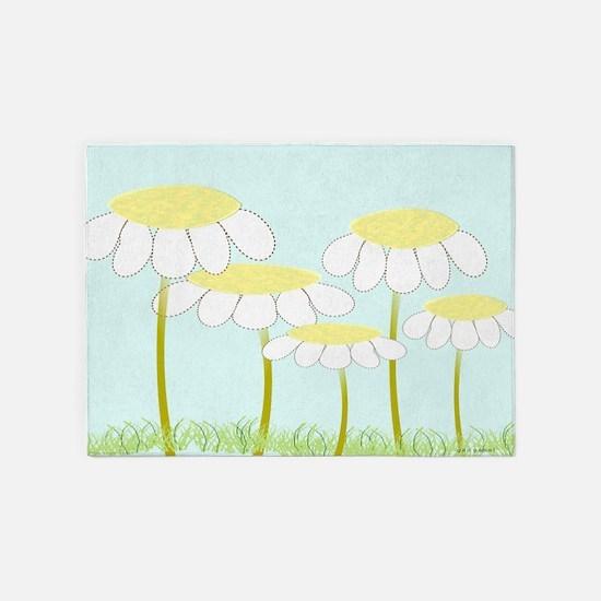 Whimsical Daisies AR 5'x7'Area Rug