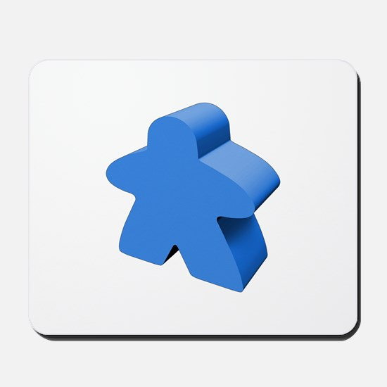 Blue Meeple Mousepad