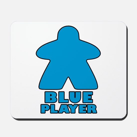 Blue Player Mousepad