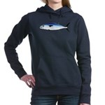 Dogtooth Tuna C Women's Hooded Sweatshirt