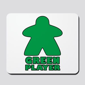 Green Player Mousepad