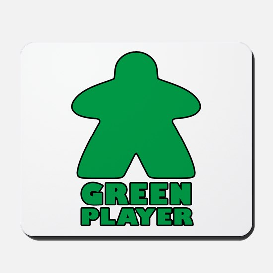 Green Player Mousepad
