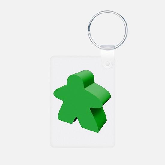 Green Meeple Keychains