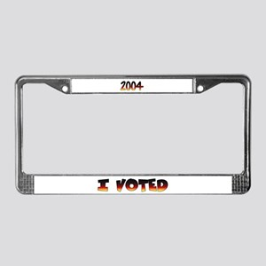 I voted (for post election) License Plate Frame