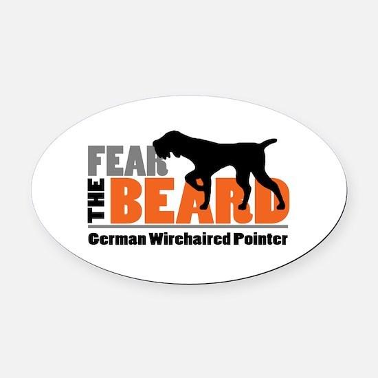 Fear The Beard - Gwp Oval Car Magnet