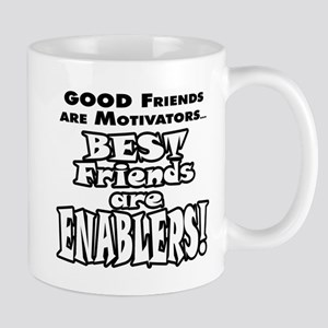 BestFriendsareEnablers_onLight Mugs