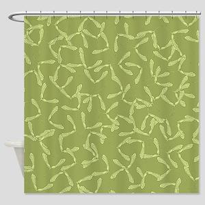 Maple Seeds Shower Curtain